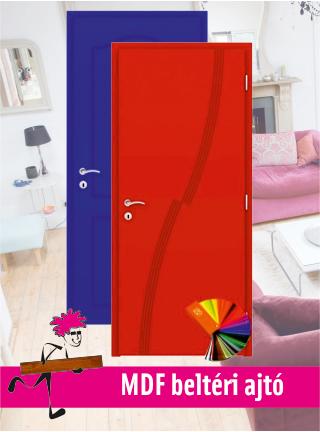 MDF festett beltéri ajtó